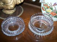 Clear Lead-Crystal Candy Dishes - Set of two (2).