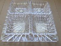 Collection of 4 @ 4.5 inch square crystal bowls with 11
