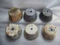 Used lead weights approx. 5 lbs each. Bolt to your go
