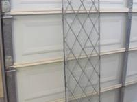 Clear diamond shaped leaded glass panels for windows: 4