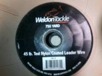 45lb. test 750 yard spool nylon coated stainless steal
