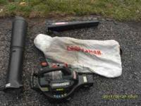 Leaf Blower/Vac Craftsman, needs carb work $25 call