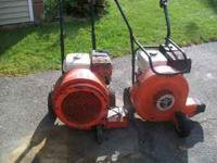Here are 2 great leaf blowers, Just serviced ready for
