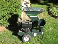 Bolens 8 HP lawn chipper/shredder. Like new. Great for