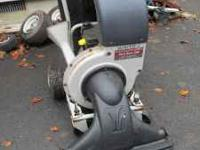 for sale is a White Leaf Vac chipper with bagger. has