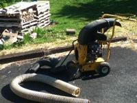 9 hp Cub Cadet chipper shredder and leaf vacuum Call