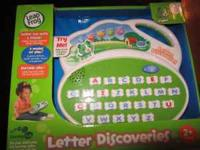 Letter DIscovery Play learnging games together portable