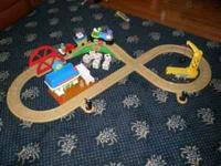 This is a gently used Leap Phonics Railroad by Leap