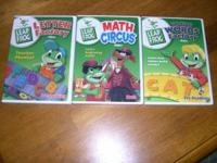 3 Leap Frog Videos. All in in excellent like new