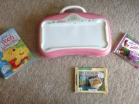 Pink and white Little Touch Leap Pad. This Leap Pad