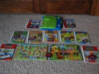 Leap Pads interactive books and cartridges for sale.