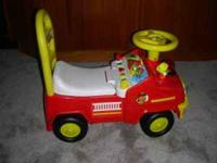 Selling a really neat Leap Frog brand FIRE TRUCK Ride