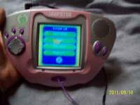 Pink leapfrog leapster. Has a couple of games, 1 spot