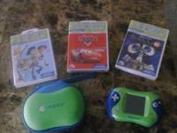 Leap Frog Leapster 2 with case and 5 games, spongebob,