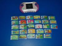 For sale is a pink Leapster 2 with connected stylus. It