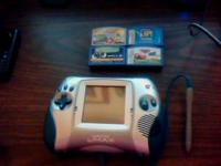 Blue Leapster L-Max and four games for sale. Spongebob
