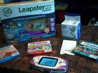 I'm selling a Leapster GS Explorer and three games. It