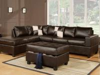 Dive into luxury with the 3-piece sectional. Covered in