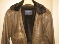 This vintage Harley Davidson leather bomber Jacket is