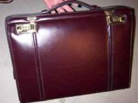 I have a burgundy leather briefcase for sale. In