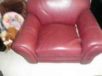Burgandy leather chair  Location: Oregon,ohio