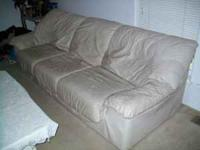 JUST REDUCED , nice leather couch set for sale that
