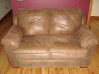 Brown Leather couch, love seat, & chaise lounge For