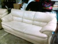 Leather couch and Loveseat - $200.00 o.b.o. A couple