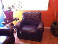 Brown leather couches in great condition for sale for