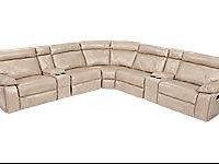 Cindy Crawford Home Wilshire Place Stone Leather 7 Pc