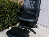 Seldom used. Like new condition. Computer chair is high