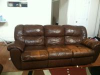 Leather couch, loveseat and chair for sale. All 3