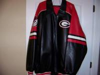 Ga bulldog leather jacket Size 5x never worn Cost $300