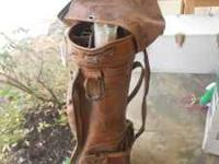 Older leather golf bag. No rips or tears, just needs