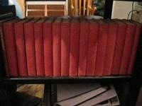 Great set of red leather hard back books. Great for an