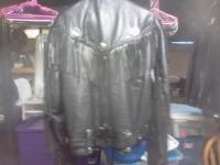 First leather jacket very good condition asking 35.00
