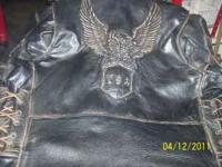 I HAVE A MENS SIZE 44 LARGE LEATHER JACKET,WITH EAGLE