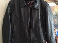 Men's and ladies leather jackets , both mediums mans is