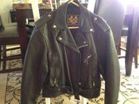 Black leather jacket worn only a few times. In great
