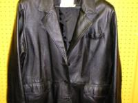 We have two very nice genuine leather jackets for sale.