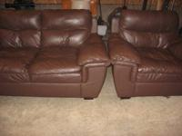 we are selling our matching leather love seat and chair