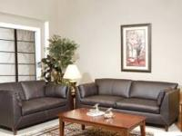 100% Bonded Leather Sofa and Loveseat Set $589 BRAND