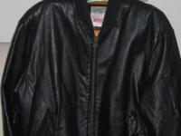 "Men's Black leather jacket by ""Michael Hoban, WHEREMI"""