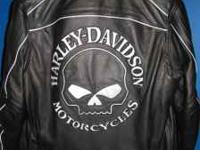 Brand new Harley-Davidson leather motorcycle jacket.
