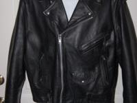 Here is a VERY NICE Vintage First Genuine Leather Biker