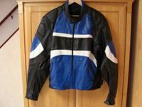 Available is a massive duty leather Motorcycle Coat.