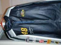This is a New Leather Nascar Jimmie Johnson Jacket.It