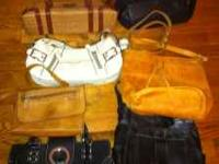 Leather purses (Stone Mountain, Fossil, Gucci, Prada)