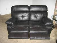 New three months ago Black Leather Wall Away Reclining