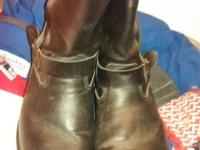 They are Herman Survival all leather riding boots size
